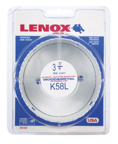 "Lenox 1772013 Bi Metal Hole Saw, White, 3-5/8 "" Dia 1-1/2 "" Depth Cut at Sears.com"