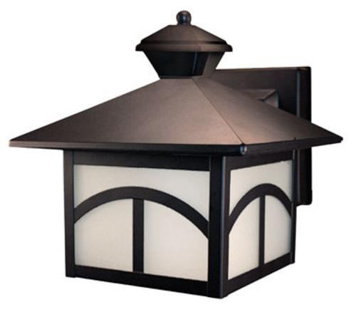 "Heath Zenith HZ-4110-OR Motion Activated Wall Lantern, 9.75"" x 8.5"" x 10.375"" at Sears.com"