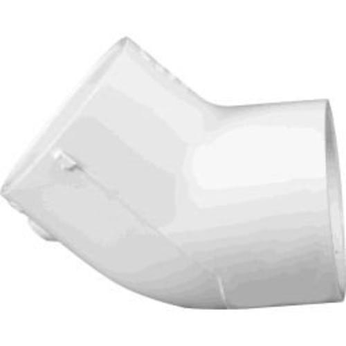 "Charlotte Pipe & Found Charlotte Pipe PVC 02309 1800 Sch 40 Pvc 45 Degree Elbow, 3"", White at Sears.com"