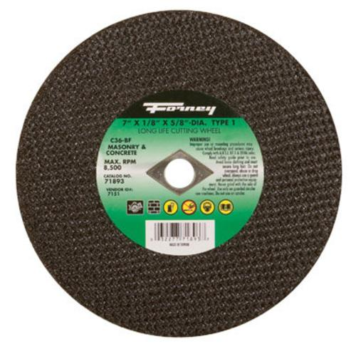 "Forney Industries Masonry Cutting Wheel 7""x1/8"" x 5/8"" at Sears.com"
