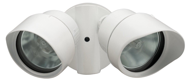 Lithonia Lighting 138H7K Twin Head Designer Floodlight, 200 Watts, 120 Volt