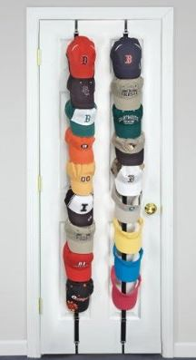 PERFECT CURVE CapRack18 Baseball Cap Holder and Organizer, Black at Sears.com