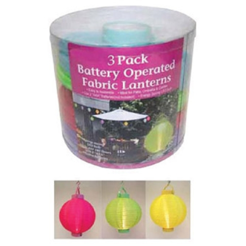 CELEBRATIONS 60S06116 Battery Operated LED Fabric Lantern Set at Sears.com