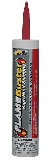 White Lightning 8802020 Flame Buster High Heat Silicone Sealant, 10 Oz at Sears.com