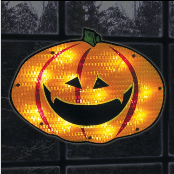 "Impact Innovations 82351 Shimmering Jack O'Lantern Window Silhouette, 16"" at Sears.com"