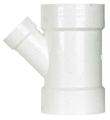"Charlotte Pipe & Found Pvc/Dwv 45 Degree Wye 4"" X 4"" X 2"" at Sears.com"