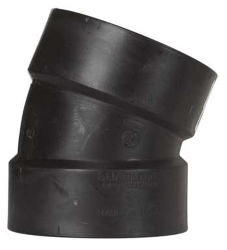 "Charlotte Pipe & Found Abs/Dwv 22-1/2 Degree Elbow 4"" at Sears.com"