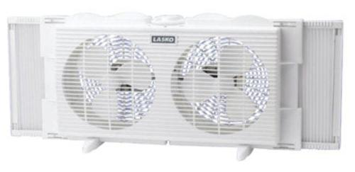"Lasko 2137 Twin Window Fan 7"", White at Sears.com"