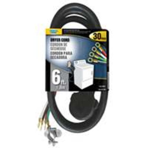 POWER ZONE ORD100406 Dryer Cord, 6', Black at Sears.com