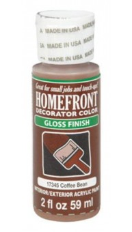 Homefront 17345 Decorator Color Interior/Exterior Acrylic Paint, 2 Oz