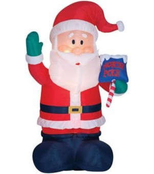 Gemmy 70300280 Airblown Santa Outdoor Decor, 16'