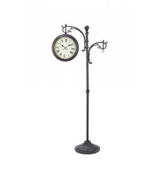 Woodard GA155-07 Outdoor Pedestal Double Sided Clock