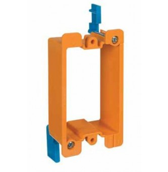 "Carlon B100R-CRD 1 Gang Low Voltage Outlet Box, 1/8"" To 1-1/8"""