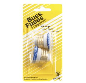 Bussmann BP/T-15 T-Type Plug Fuse, 15 Amp, 120 Volt