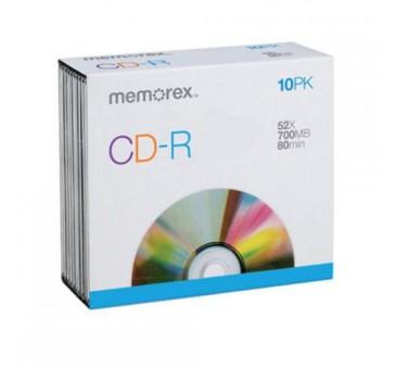 Memorex 034707045149 Blank CD-R, 700 Mb, 80 Minute