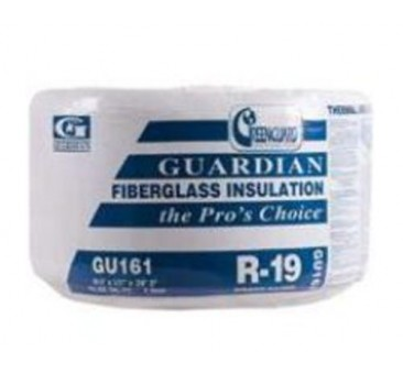Guardian GU161 R19 Fiberglass insulation - 23 inches wide by 39.17 feet long