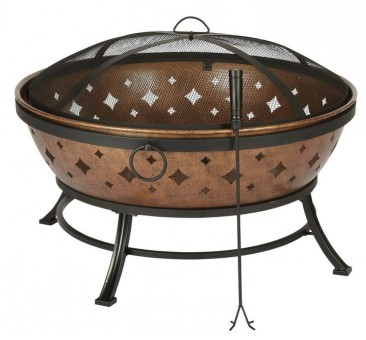 "Living Accents L-FT629PST Noma Fire Pit, 35.8"" D x 22.4"" H"