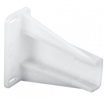 "Prime Line 221694 Drawer Slide Bracket, 2"", White, Plastic"