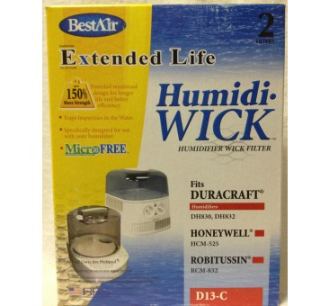"BestAir D13-C Extended Life Humidifier Wick Filter , 3-3/4"" x 6"" x 1-1/2"""