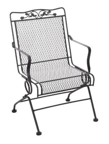 Meadowcraft 7871700 020500 Glenbrook Action Patio Chair, Charcoal Powder  Coated