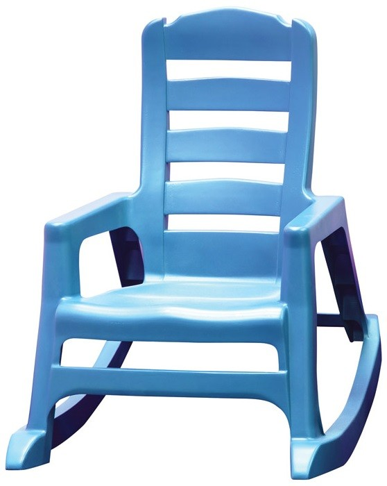 Adams 8480 21 3731 Lilu0027 Easy Stackable Kidu0027s Rocking Chair, Blue