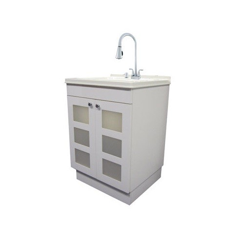 LDR 040 7712CP-SD Exquisite Utility Sink And Cabinet Kit, White at ...