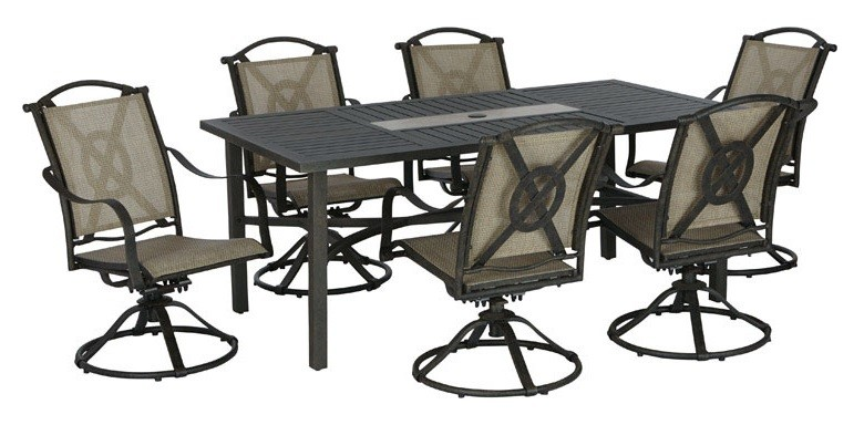 Living Accents RXAC 37 SET Brooklyn Patio Dining Set, 7 Pieces
