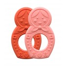 Sugar Booger A1038 Matryoshka Doll Silicone Teether, Set Of 2
