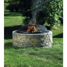 Living Accents SRFP97C Stacked Stone Fire Pit, 35""