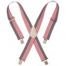 CLC 110USA Heavy-Duty Adjustable Elastic Suspenders, USA Flag Print