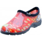 Sloggers 5104RD07 Women's Garden Shoes, Paisley Red, Size 7