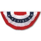 Valley Forge PFF-ST Pleated Polycotton Full Fan Flag, 3' x 6'