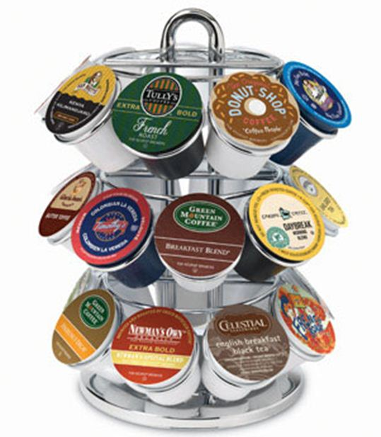 """Keurig 5060 K-Cup Coffee Carousel, 9.5""""H x 7.5""""D, Chrome plated at Sears.com"""