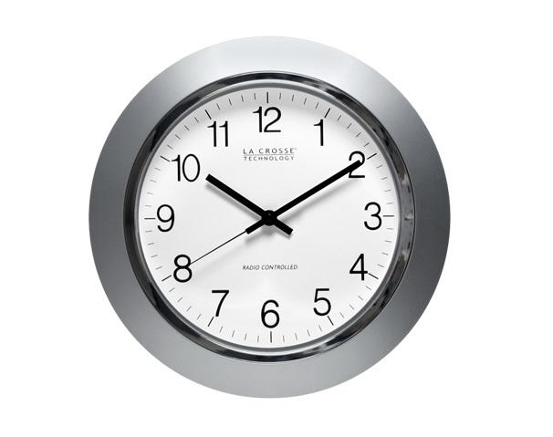 La Crosse Technology WT-3144S Atomic Time Analog Wall Clock