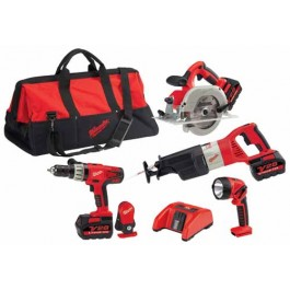 Milwaukee 0928-29 M28 Cordless Combo Kit, 4 Piece, 28 Volt